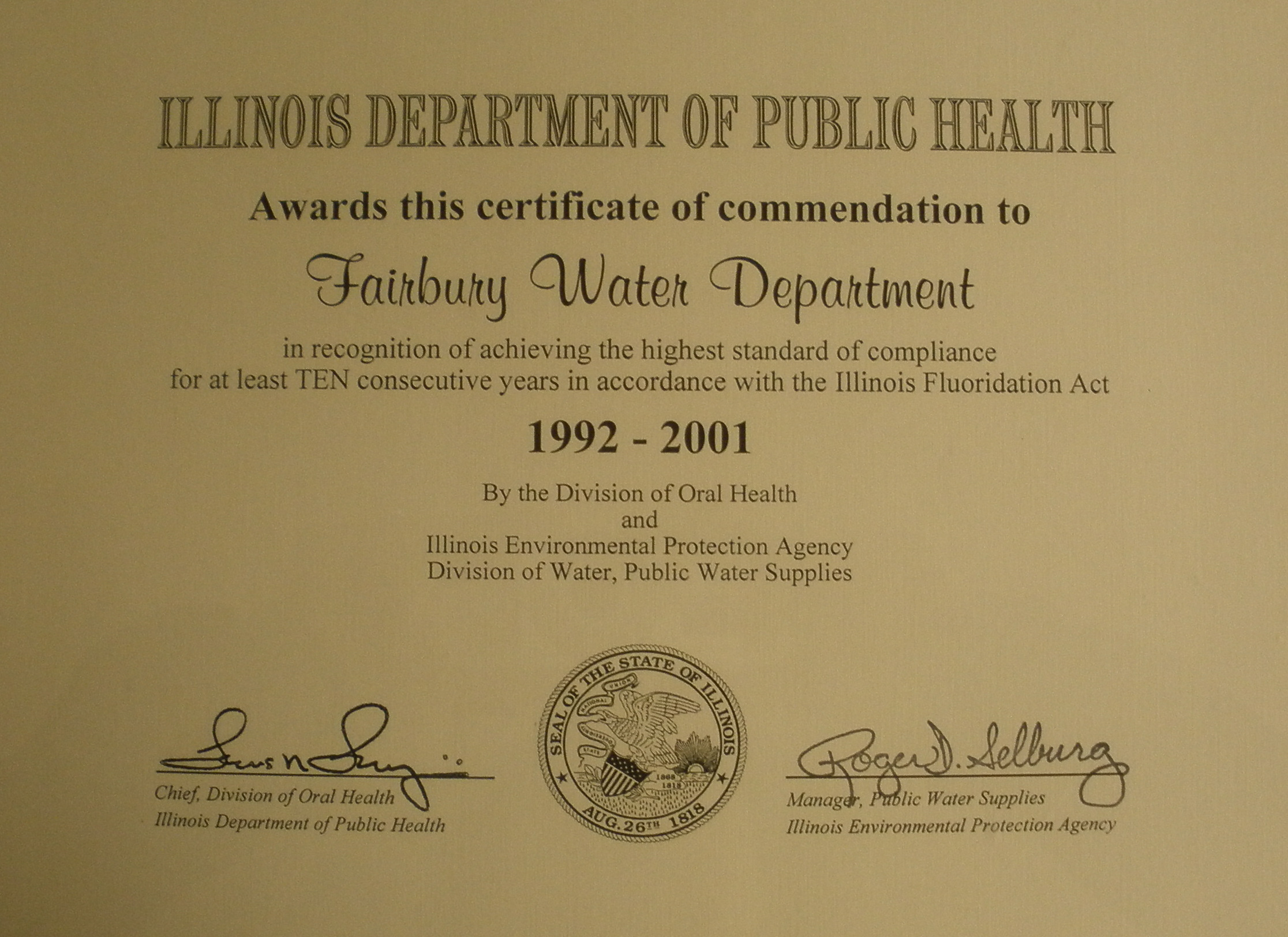 1992-2001 Dept of Public Health