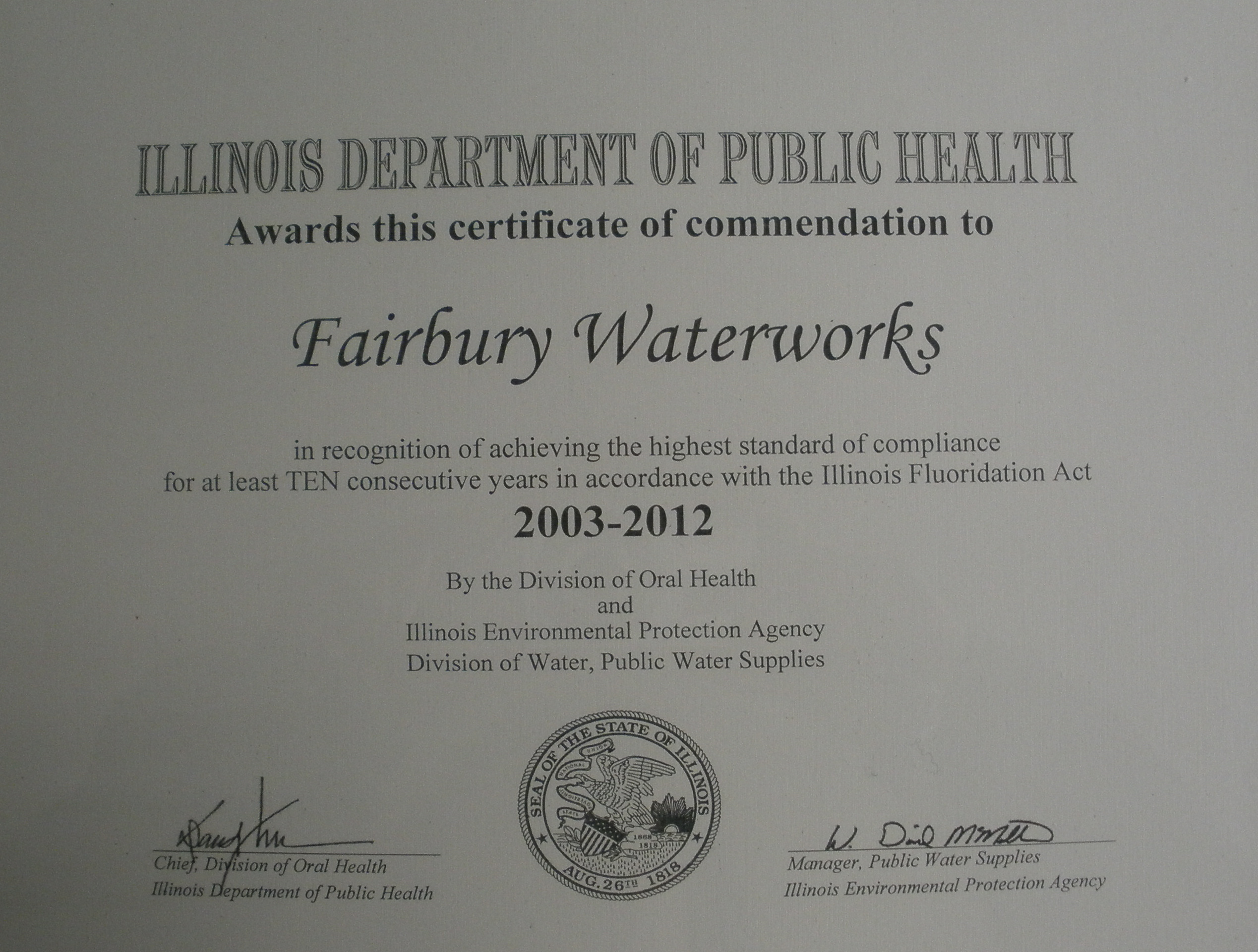 2003-2012 Dept of Public Health